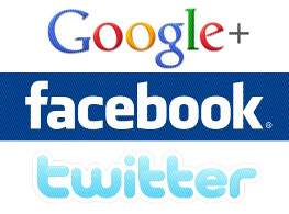google facebook twitter sider