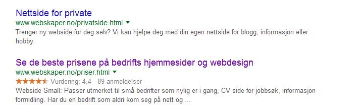 Bedre plassering på Google, Bing og søkemotorer