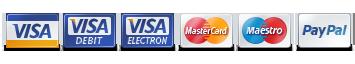 visa mastercard maestro paypal betaling
