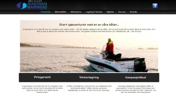 Scandinavia marine - Nettside utvikling bedrift