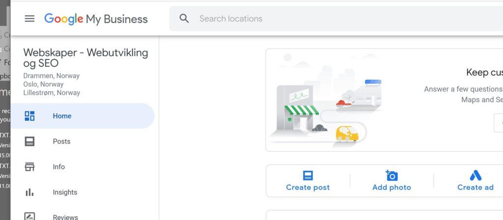 Ta eierskap av Google min bedrift