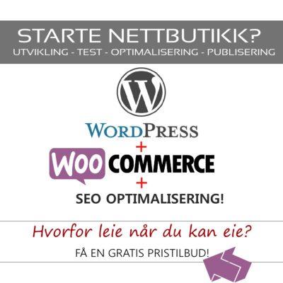 Nettbutikk - Wordpress & Woocommerce